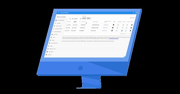 CCPA Compliance dashboard illustration