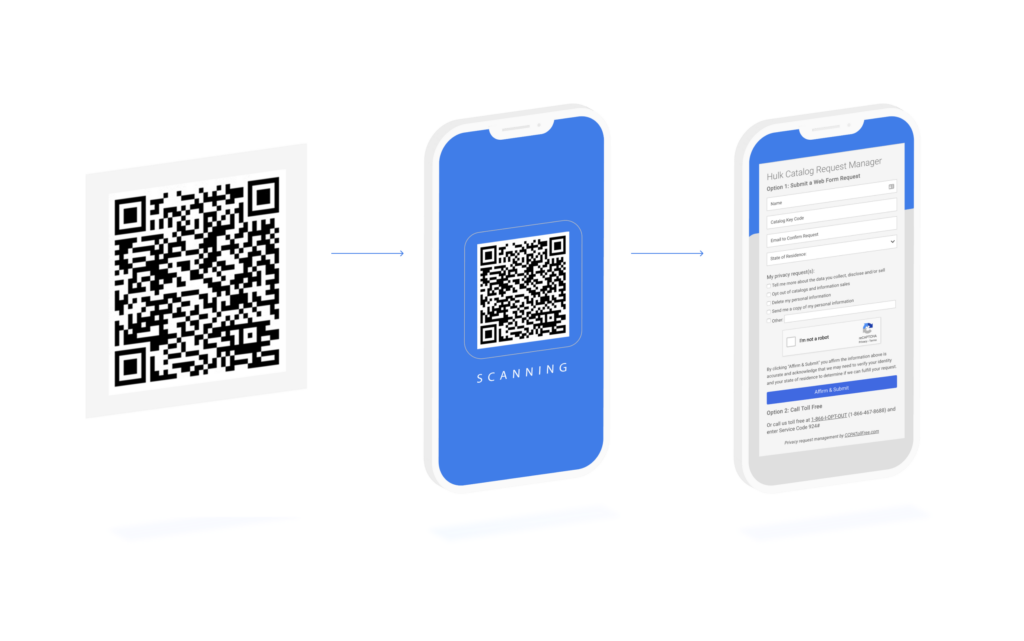 mobile qr code illustration